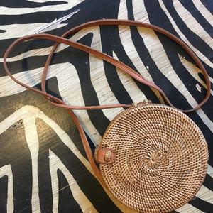Handbags - Hand woven round cross-body purse